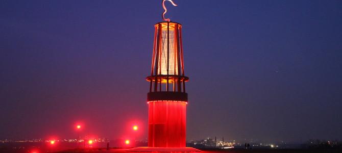 Wenn abends das Signalfeuer des Ruhrgebiets entfacht