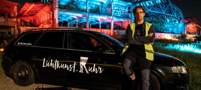 Wenn es Nacht wird im Ruhrgebiet – Lichtkünstler Thorsten Pfister von Lichtkunst.Ruhr im InstaTalk