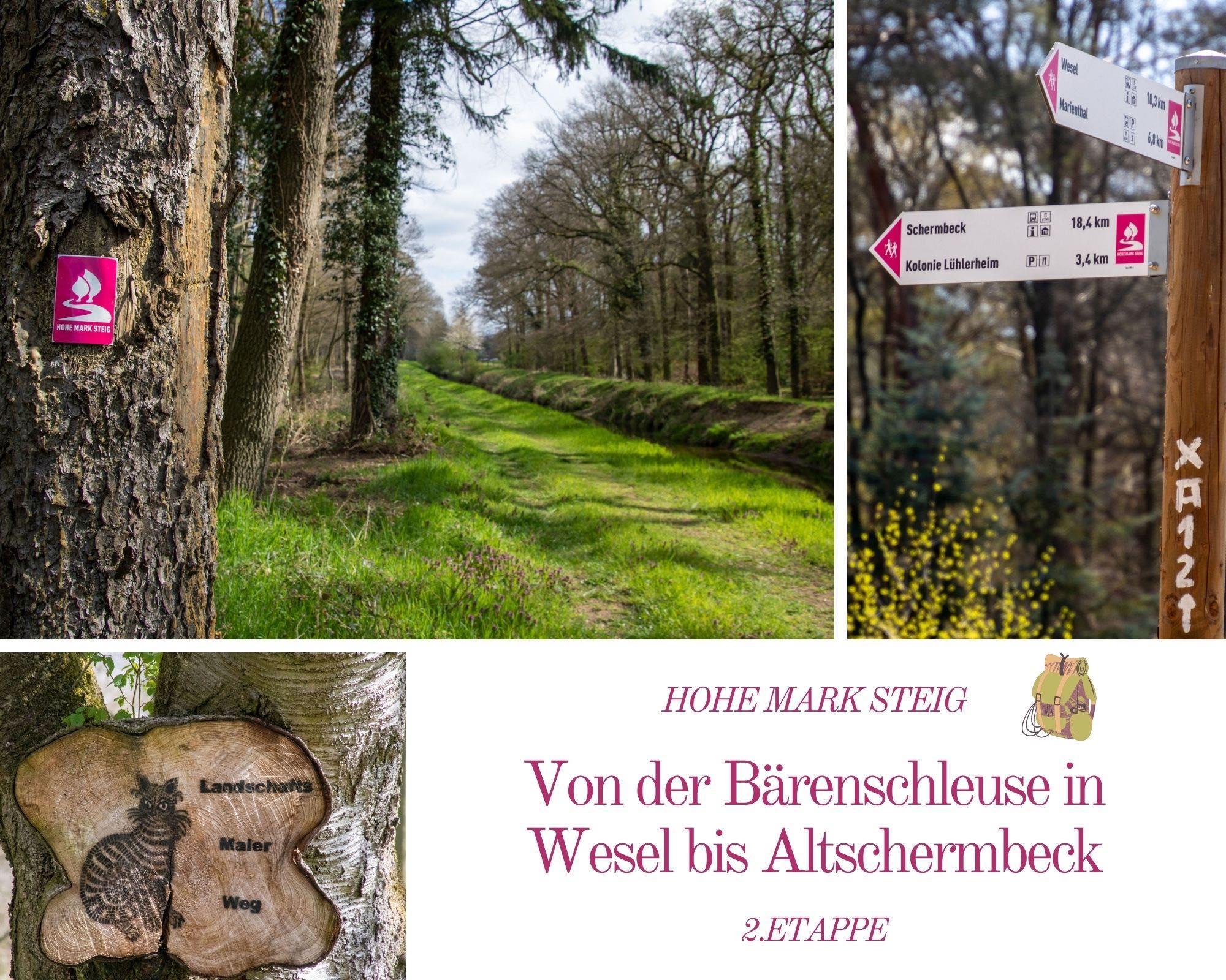Wandern auf dem Hohe Mark Steig – 2.Etappe – Von der Bärenschleuse nach Altschermbeck